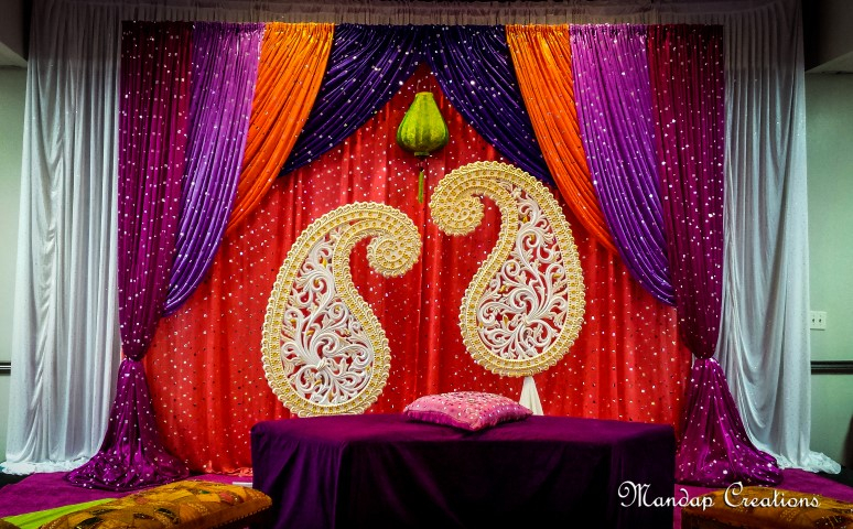 Sangeet decor mandap creations for Sangeet decorations at home